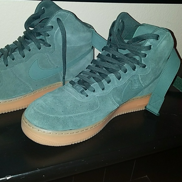 Nike Shoes   Air Force 1 Green Suede